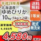 米 10kg 北海道産ゆめぴりか 無洗米 乾式無洗米 送料無料 平成28年産