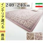 イラン製 ウィルトン織りラグ アルバーン 240x240cm