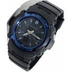 腕時計 メンズ カシオ(CASIO) Gショック(G-SHOCK) 100型 アナデジ タフソーラー 電波 ブラック/ブラック×ライトブルー色 AWG-M100A-1A / 当店再検品済
