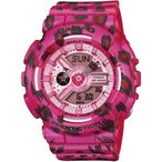 腕時計 レディース カシオ(CASIO) ベビーG(Baby-G) アナデジ 110型 レオパード クォーツ ピンク/ピンク色 BA-110LP-4A / 当店再検品済