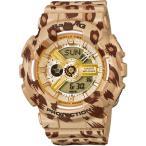 腕時計 レディース カシオ(CASIO) ベビーG(Baby-G) アナデジ 110型 レオパード クォーツ ブラウン/ブラウン色 BA-110LP-9A / 当店再検品済