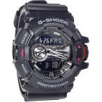 腕時計 メンズ カシオ(CASIO) Gショック(G-SHOCK) 400型 アナデジ ビッグリューズ クォーツ ブラック/ブラック色 GA-400-1B / 当店再検品済