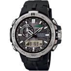 腕時計 メンズ カシオ(CASIO) プロトレック(PRO TREK) タフソーラー 電波 デジタル シルバー/ブラック/ブラック色 PRW6000-1 PRW-6000-1 / 当店再検品済