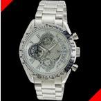 腕時計 メンズ サルバトーレマーラ(SalvatoreMarra) クロノグラフ 日付表示 ステンレスベルト シルバー/ホワイト色 SM13108-SSWH / 当店再検品済