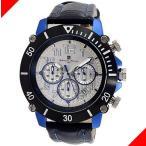 腕時計 メンズ サルバトーレマーラ(SalvatoreMarra) クロノグラフ 日付表示 革ベルト ブルー/ホワイト/ブラック色 SM13115-SSSVBL / 当店再検品済