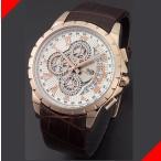 腕時計 メンズ サルバトーレマーラ(SalvatoreMarra) クロノグラフ 日付表示 革ベルト ローズゴールド/ホワイト×ローズゴールド/ブラウン色 SM13119S-PGWH