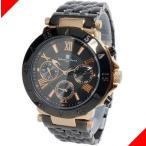 腕時計 メンズ サルバトーレマーラ(SalvatoreMarra) クロノグラフ 日付・曜日表示 ステンレスベルト ローズゴールド/ブラック色 SM14118-PGBK / 当店再検品済