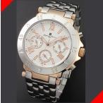 腕時計 メンズ サルバトーレマーラ(SalvatoreMarra) クロノグラフ 日付・曜日表示 ステンレスベルト ローズゴールド/ホワイト色 SM14118-PGWH / 当店再検品済