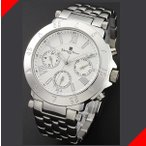腕時計 メンズ サルバトーレマーラ(SalvatoreMarra) クロノグラフ 日付・曜日表示 ステンレスベルト シルバー/ホワイト色 SM14118-SSWH / 当店再検品済