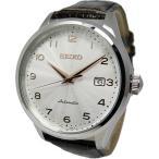 腕時計 メンズ セイコー(SEIKO) ネオクラシック(Neo Classic) オートマチック 日付表示 革ベルト シルバー/シルバー/ダークブラウン色 SRP705K1 / 再検品済