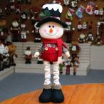 【雪だるま】クリスマス 人形 伸縮可能 飾り プレゼント ギフト クリスマス雑貨 オーナメント スノーマン