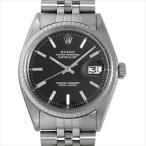 48回払いまで無金利 ロレックス デイトジャスト 1603 ブラック/バー 24番 アンティーク メンズ 腕時計