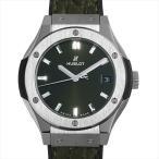 48回払いまで無金利 ウブロ クラシック・フュージョン グリーン チタニウム 581.NX.8970.LR 新品 レディース 腕時計