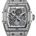 ウブロ スピリット オブ ビッグバン ムーンフェイズ チタニウム ホワイト パヴェダイヤ 647.NE.2070.RW.1604 新品 メンズ 腕時計