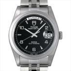 チュードル プリンス デイトデイ 76200 ブラック/飛びアラビア 新品 メンズ 腕時計