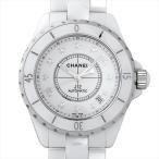 48回払いまで無金利 シャネル J12 白セラミック 12Pダイヤ H1629 新品 メンズ 腕時計