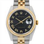 48回払いまで無金利 ロレックス デイトジャスト 116233 ブラック彫りコンピューター/ローマ D番 中古 メンズ 腕時計