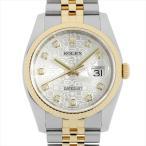 48回払いまで無金利 ロレックス デイトジャスト 10Pダイヤ F番 116233G シルバー彫りコンピューター 中古 メンズ 腕時計
