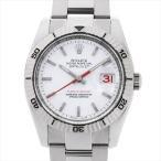 48回払いまで無金利 ロレックス デイトジャスト ターノグラフ 116264 ホワイト/バー/5列ブレス D番 中古 メンズ 腕時計