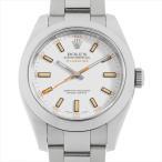 SALE 48回払いまで無金利 ロレックス ミルガウス 116400 ホワイト M番 中古 メンズ 腕時計