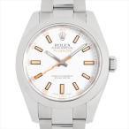 最大5万円オフクーポン配布 6/15開始 ロレックス ミルガウス 116400 ホワイト V番 中古 メンズ 腕時計 48回払いまで無金利