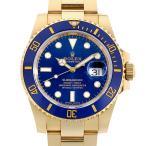 48回払いまで無金利 ロレックス サブマリーナ デイト 116618LB マットブルーダイアル G番 中古 メンズ 腕時計