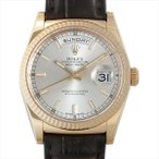 48回払いまで無金利 ロレックス デイデイト シルバー 118138 中古 メンズ 腕時計