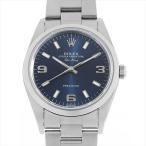 48回払いまで無金利 ロレックス エアキング 14000 ブルー/369ホワイトバー A番 中古 メンズ 腕時計