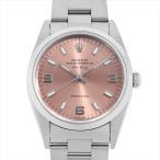 48回払いまで無金利 ロレックス オイスターパーペチュアル エアキング 14000 ピンク/369ホワイトバー U番 中古 メンズ 腕時計