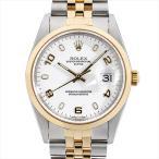 48回払いまで無金利 ロレックス オイスターパーペチュアルデイト K番 15203 ブラック/バー 中古 メンズ 腕時計