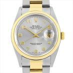 SALE 48回払いまで無金利 ロレックス デイトジャスト A番 16203 グレー/アラビア 中古 メンズ 腕時計