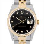 SALE ロレックス デイトジャスト 10Pダイヤ W番 16233G ブラック 中古 メンズ 腕時計