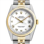48回払いまで無金利 ロレックス デイトジャスト S番 16233 ホワイトシャンタン/ローマ 中古 メンズ 腕時計