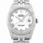 48回払いまで無金利 ロレックス デイトジャスト T番 16234 ホワイト/ローマ 中古 メンズ 腕時計