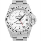 48回払いまで無金利 ロレックス エクスプローラーII P番 16570 ホワイト 中古 メンズ 腕時計