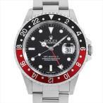 48回払いまで無金利 ロレックス GMTマスターII 赤青ベゼル 16710 P番 中古 メンズ 腕時計