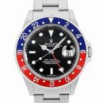 48回払いまで無金利 ロレックス GMTマスターII 赤青ベゼル スティックダイアル Z番 16710 Cal.3186 中古 メンズ 腕時計