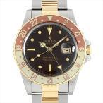 SALE 48回払いまで無金利 ロレックス GMTマスター 16753 ブラウン/フジツボ 90番 中古 メンズ 腕時計