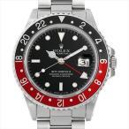 48回払いまで無金利 ロレックス GMTマスターII 赤黒ベゼル ファットレディ R番  16760 中古 メンズ 腕時計