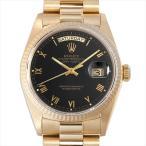 48回払いまで無金利 ロレックス デイデイト 18038 ブラック/ローマ 94番 中古 メンズ 腕時計