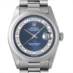 SALE 48回払いまで無金利 ロレックス デイデイト ミリヤード A番 18206MG ブルー 中古 メンズ 腕時計
