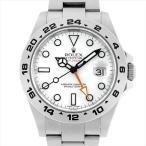 48回払いまで無金利 ロレックス エクスプローラーII 216570 ホワイト ランダムシリアル 中古 メンズ 腕時計