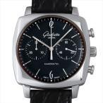 【48回払いまで無金利】グラスヒュッテオリジナル セネタ シックスティーズ スクエア クロノグラフ 39-34-02-32-04 中古 メンズ 腕時計