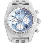 ブライトリング クロノマット44 MOP ブラック&ホワイト 日本限定400本 A011BWJPA(AB0110) 中古 メンズ 腕時計