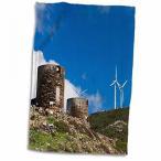 送料無料 タオル 3dRose デニータ Delimont - 風車 - フランス、ベルヴェデーレ ・ デュ ・ ムーラン Martei 風車 - EU09 WBI3759 - ウォルター ・ Bibikow ・