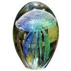 送料無料 インテリア 大西洋のグッズ ティール手吹きガラス アート輝きの暗いクラゲ文鎮偉大なオフィス装飾、ギフト 正規輸入品