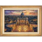 gioioreで買える「インテリア トマス Kinkade - バチカン日没 24× 36 不動産版 (E 限定版キャンバス」の画像です。価格は1,120,900円になります。