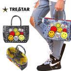 TRE☆STAR TRESTAR トレスター スマイリー ワッペン トート Sサイズ ペイント デニム グレー デニム メンズ レディース 星 スター バッグ