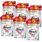 アタックゼロ Attack ZERO 詰め替え 超特大 抗菌プラス 洗濯洗剤 液体 大容量 1800g(約5倍分)×6個