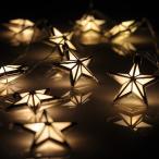 ライト デコレーション 飾り 装飾 クリスマス 180cm 10球LEDスターライトチェーン